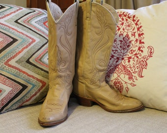 Acme Leather Vintage Cowboy/Cowgirl Boots Women's 8.5