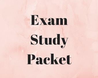 Exam Study Packet Printable