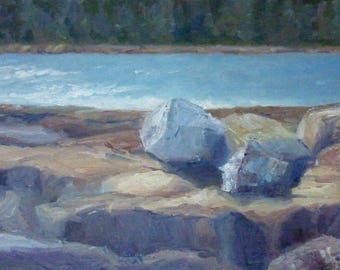 Original Maine Seascape Oil Painting