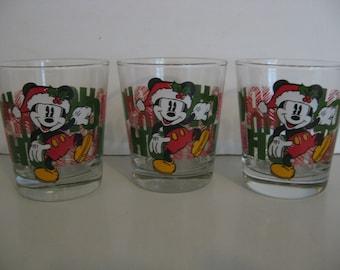 Disney - Mickey Mouse - Christmas HO HO HO - Set of 3 Glasses