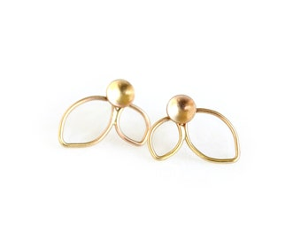 14k Yellow Gold Earrings - Post Earrings - Stud Earrings