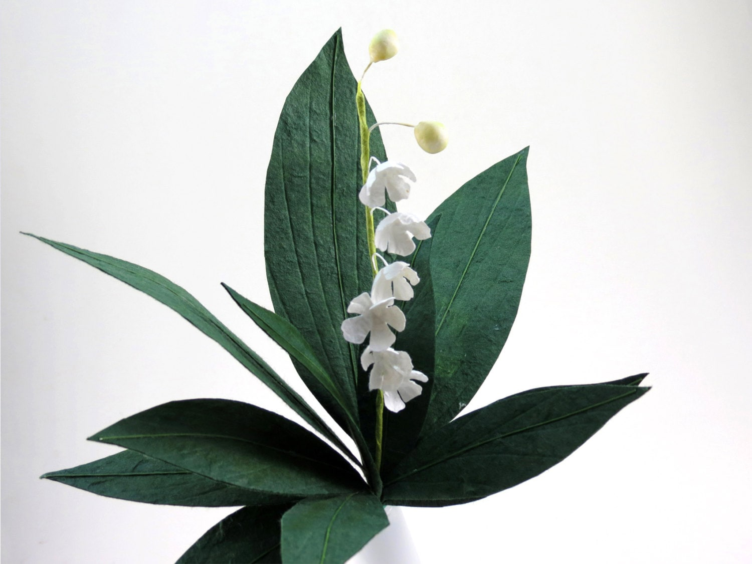 Lily of the valley single stem paper flower zoom izmirmasajfo