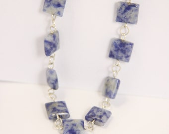 Sodalite - 925 sterling silver necklace