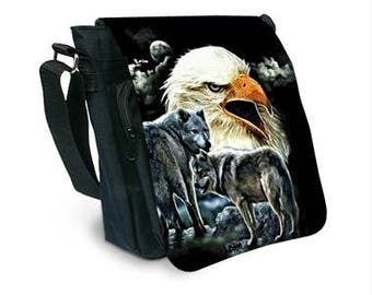 Eagle and Wolf pattern bag
