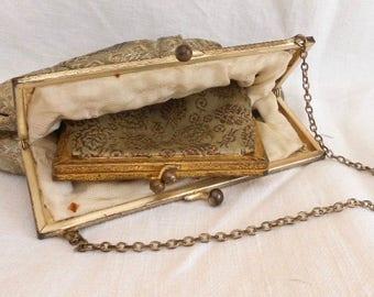 Handbag and Purse, Purses for Women, Lady's Bag and Purse, Small Coin Purse, Silk Purse, Gold Purse, Vintage Accessories, Vintage Fashion