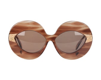 Authentic SERGE KIRCHHOFER Vintage 70s Oversized Sunglasses 469 Nos