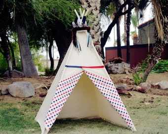 Liberty canvas kids Teepee tent with a side window/Limited Edition from TucsonTeepee