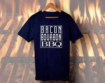 Bacon Bourbon BBQ graphic tee