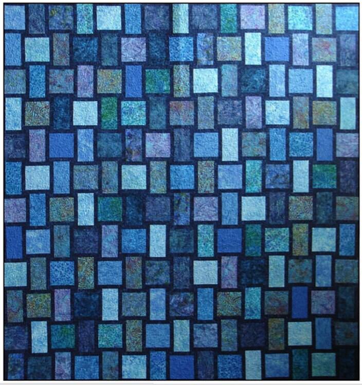 Blue Moon Quilt Kit with Pattern Blue Underground Studios DIY : blue quilt patterns - Adamdwight.com