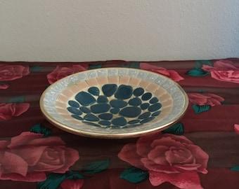 By Needful Vintage Finds: Mic Century Modern Retro Mosaic Ashtray Aluminum Back