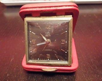 Old mark used model DELTA VINTAGE travel alarm clock