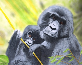 Endangered species set of 5 greeting cards