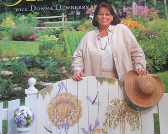 """Decorative used painting 2002 book """"Painting Garden Decor Donna Dewberry""""  145 pages good condition"""
