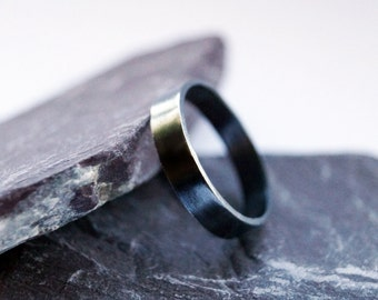 Sterling Silver Band ~ ring, oxidised, stacking ring