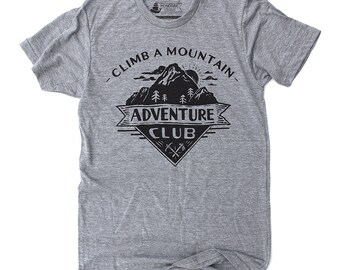 Camping Shirt, Hiking Shirt, Mens Hiking Shirt, Nature Lovers Gift, Graphic Tee - Adventure Club: