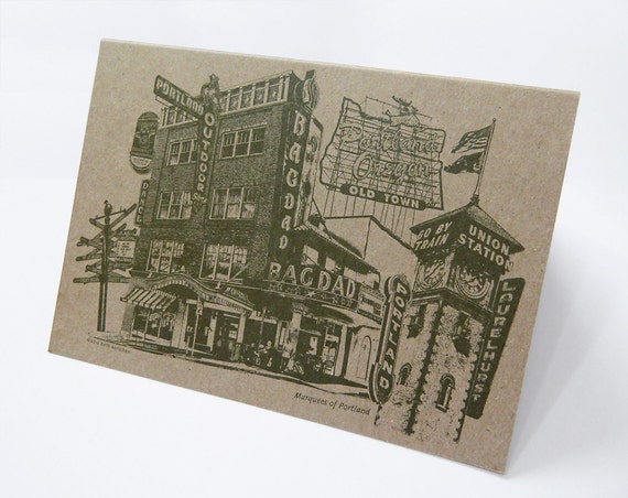 Marquees of Portland Note Card -- ON SALE!!