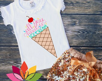 All you need is, ICE CREAM cone summer rainbow sprinkle SVG cut file for silhouette cameo and criut