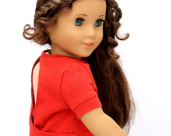 SAMPLE SALE - Fits like American Girl Doll Clothes - Keyhole Back Top in Rust | 18 Inch Doll Clothes