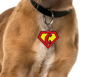Custom Dog Tags Cat Tags Pet Tags Dog ID Cat ID Pet ID Tags Superhero Emblem