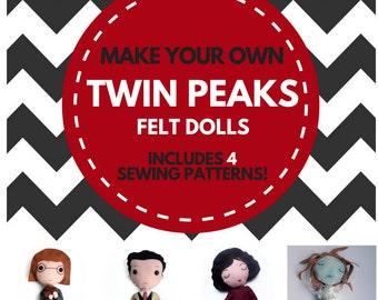 Make your own felt Twin Peaks dolls! // PDF patterns, instant download