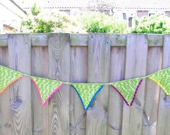 Crochet Garland, green