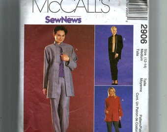 McCall's Misses' Unlined Jacket, Top and Pull-On Pants Pattern 2906