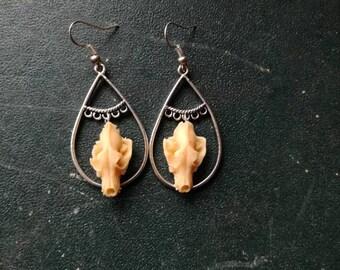 Skulls of Wolf - Wolf Skull Earrings earrings