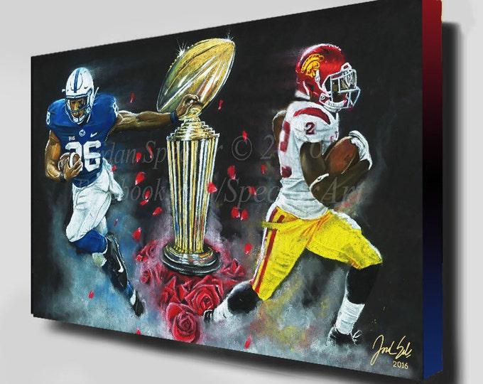 Rose Bowl - 2017 - USC Trojans - Canvas Print - USC Art - Trojans Football - College Football - Rose Bowl Picture - Jordan Spector