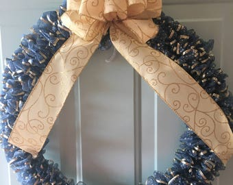 Blue & Gold wreath