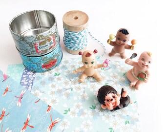 Hanging custom birthstone - gift - baby Figurine - baby - box tea room recycled