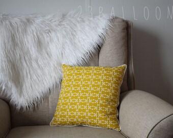 Mustard Cushion Cover; Modern Nursery Decor; Kids Pillow; Kids Decor