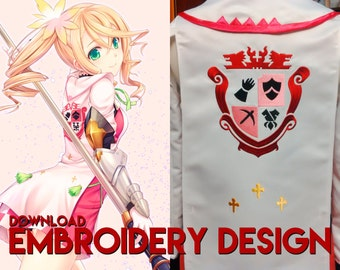 Alisha Diphda Tales of Zestiria cosplay costume embroidery design