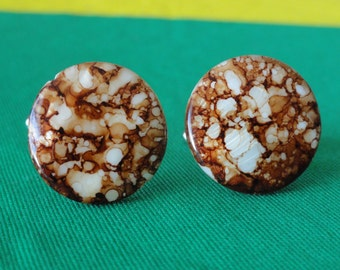 Amber Spotted Shell Cufflinks