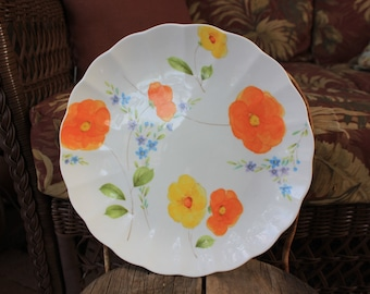 1975 - 1976 Mikasa - Poppy Love - Dinner Plate 10.5 inches - EXCELLENT Condition