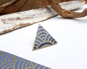 Pins - Japanese Washi - Nepal - marbled paper - decorated / / jewelry Unique & Original / / the lives of paper / / Magnitude