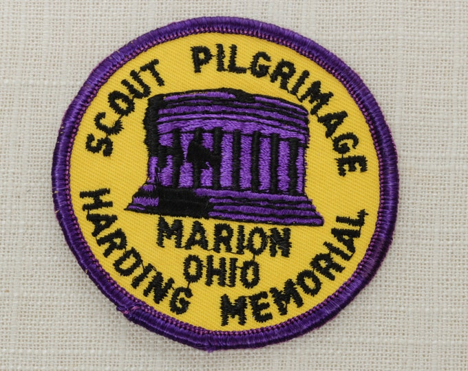 Vintage Harding Memorial Scout Patch | Pilgrimage Sew On Marion Ohio Warren G. Harding Honorary President Boy Scouts of America Girl Scouts