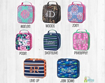 Monogrammed Lunch Box, Kids Lunch Box, Lunch Box for School, Personalized Lunch Box, Lunch Bag, Lunch Tote, Monogram Kids Lunch Box
