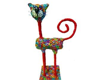 Cat sculpture, Cat art, Cat decor, Cat decoration, Cat figurine, Cat collectibles, Cat lover gift, Cat, Cat lover, Cat design, Cat art, doll
