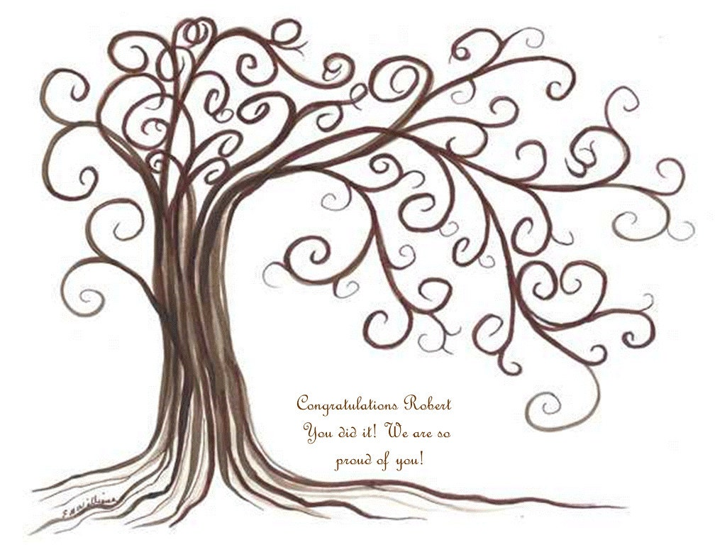 thumbprint tree Graduation gift Party Family Reunion Party