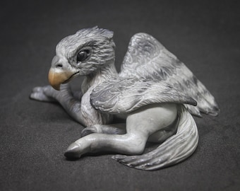 HIPPOGRIFF Made to Order | Miniature Polymer Clay Hippogryph Sculpture | Mythology, Creatures, Winged Horse, Pegasus