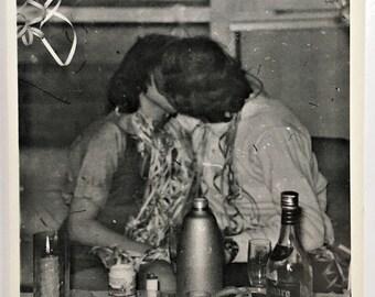 "Vintage Photo ""Little Birthday Faces"" Snapshot Antique Black & White Photograph Paper Found Ephemera Vernacular Interior Design Mood - 80"