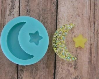 Silicone Flexible Mold- Moon & Star