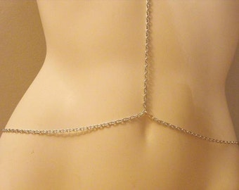 Necklace and Connected Belly Chain