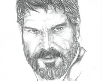 Joel The Last Of Us High Quality Art Print