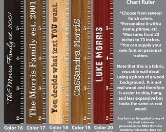 Wooden Growth Chart Ruler Height Chart Wall Decals Growth
