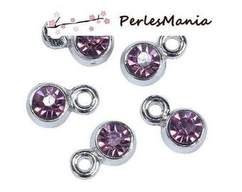 Pendant lockets FACETED round 6mm S1192965