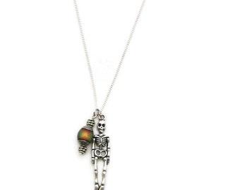 Skeleton Necklace Skeleton Jewelry Mood  Necklace Anatomy Necklace Anatomy Jewelry Halloween Jewelry Halloween Necklace