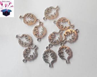 10 antique silver charms tree 21x14mm