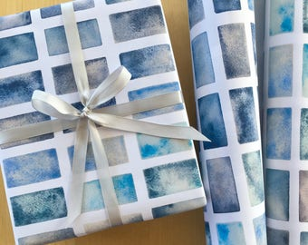 Shades of Blue Wrapping Paper