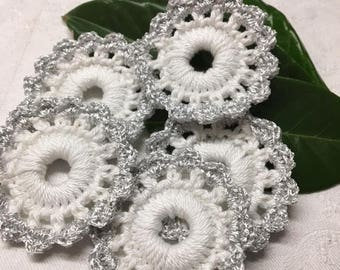 Great Christmas decoration wreath Silver